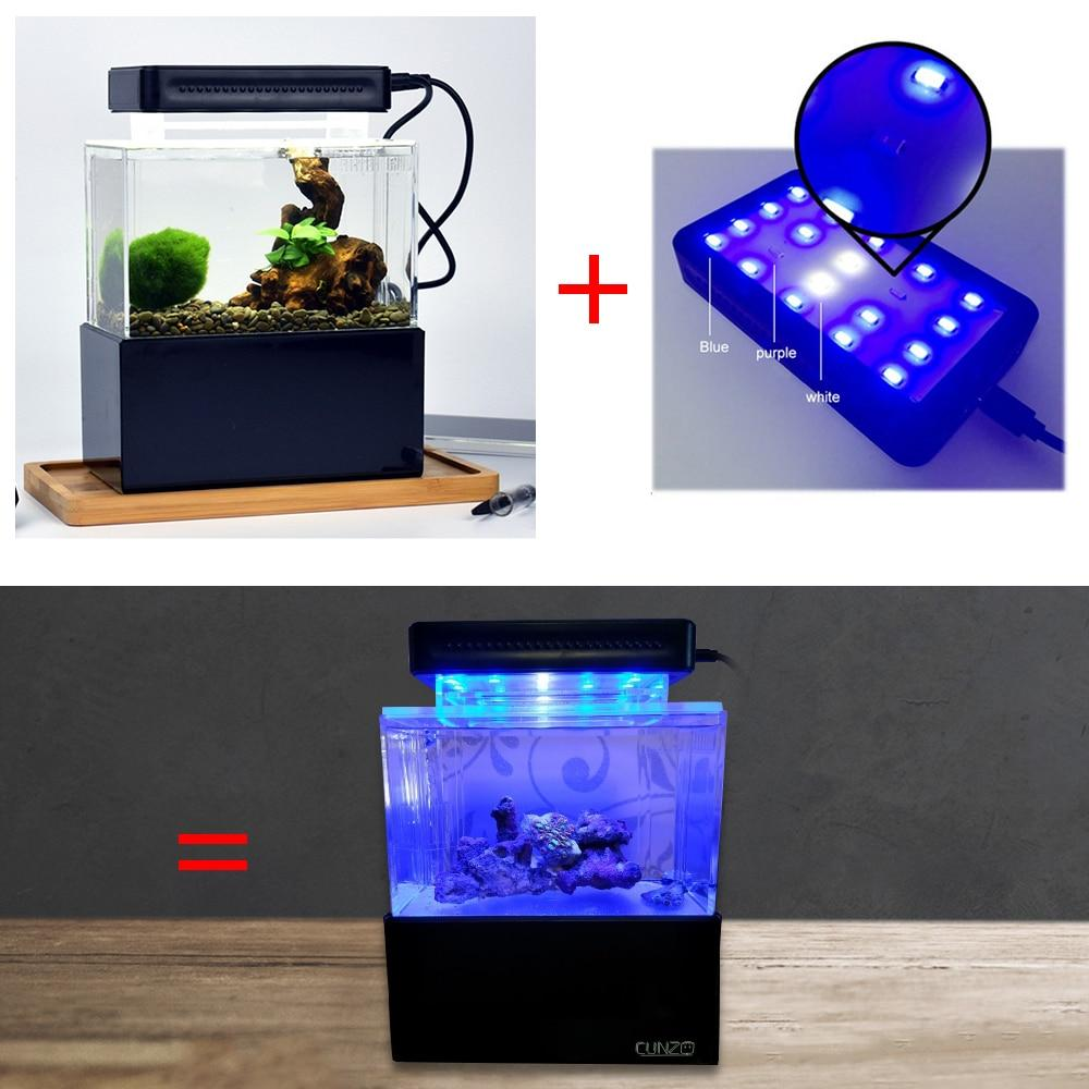 Desktop Aquarium Mini Plastic Silent Fish Tank With Led Water Filter Led Air Pump High Quality Fish Bio Aquarium Filter Pump Shopee Bazar