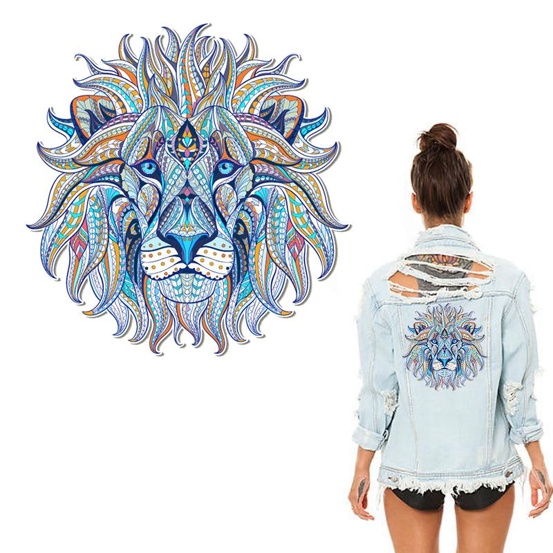 IRON-ON TRANSFER CLOTHES PATCHES COOL 3D LION STICKERS FOR TOPS T-SHIRT NICE