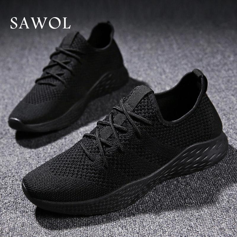 2018 Knit Mesh Breathable Sneakers Mens