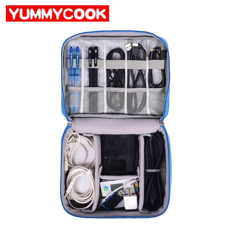Portable Travel USB Cable Storage Bag Organizer Phone Charger Accessories Case